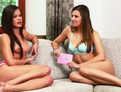 Breathtaking lesbo Caprice disrobes jointly with her beautiful female friend getting ready for some hardcore enjoyment