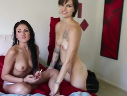 After swimming dark brown hot lesbos Belladonna and Mia Rose receive private in the bedroom