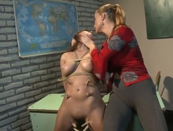 Crazy and fantastic S&m scene with lesbo angels named Brigita and Katy Parker